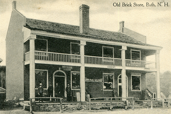The Bath Brick Store 1919 Postcard