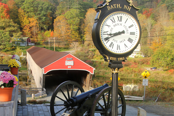 Bath Bridge and Brick Store Cannon and Clock